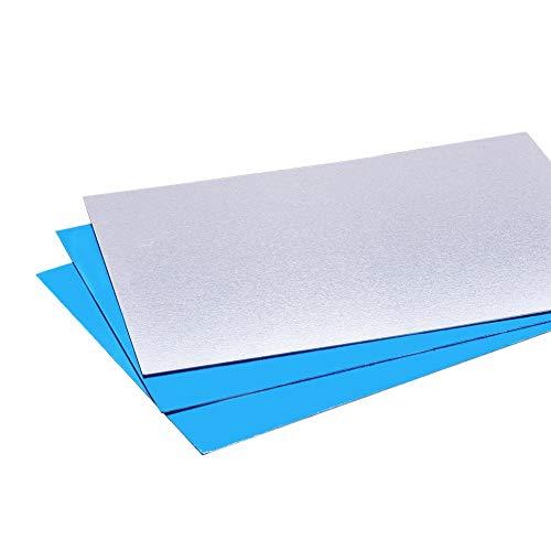 BENECREAT 10 PCS Panel de Aluminio (18x13cm) Lámina de Aluminio con Película Protectora para Manualidades de Metal, Hacer Joyas, Estampados a Mano, Grabado en Relieve