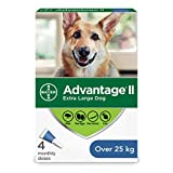Advantage II Flea Treatment for Extra Large Dogs weighing over 25 kg