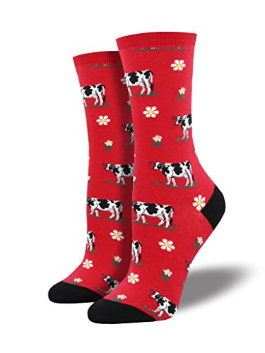 Kühe Einheitsgröße passt die meisten roten Damen Socken