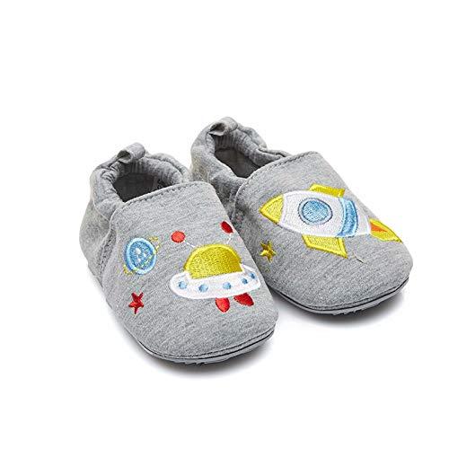 Gavena Zapatos de bebé sin Cordones para Primer Paseo con Suela de Goma Antideslizante Suave 0-6 Meses Rocket