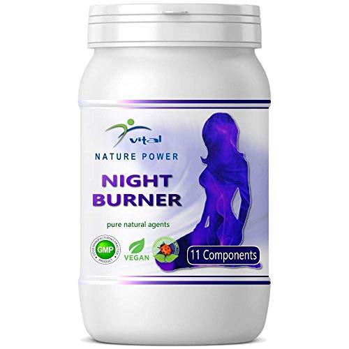 Natural Burner Kapseln - wahlweise Day Burner mit 21 Wirkstoffen, NIGHT Burner mit 11 Wirkstoffen oder Kombi Paket mit gratis Diätplan
