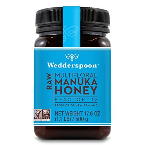 Wedderspoon Raw Premium Manuka Honey KFactor 12, Unpasteurized, Genuine New Zealand Honey, Multi-Functional, Non-GMO Superfood, 17.6 Ounce