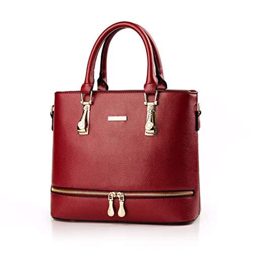 N/A NA Borse e borsette for Cuoio delle Signore delle Donne di Moda Maniglia Superiore Cartella della Spalla Tote Bags (Color : D)