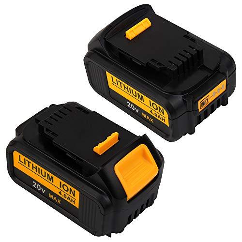 SHGEEN [2 Stück]DCB200 4.0Ah 20V Li-ion Ersatz-Akku für Dewalt DCB184 DCB183 DCB185 DCD785 DCD795 DCF885 DCF895 DCS380 DCF880 Max XR DCB182 DCB180 DCB181 DCB182 DCB201 DCB206-2 DCB204 Elektrowerkzeuge