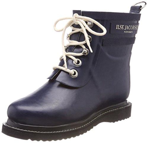 Ilse Jacobsen Damen Gummistiefel | Schuhe aus 100% Natur Bio Gummi | Garantiert PVC frei | Kurze Stiefel mit Schnürsenkel aus 100% Baumwolle | RUB2 | 36 EU