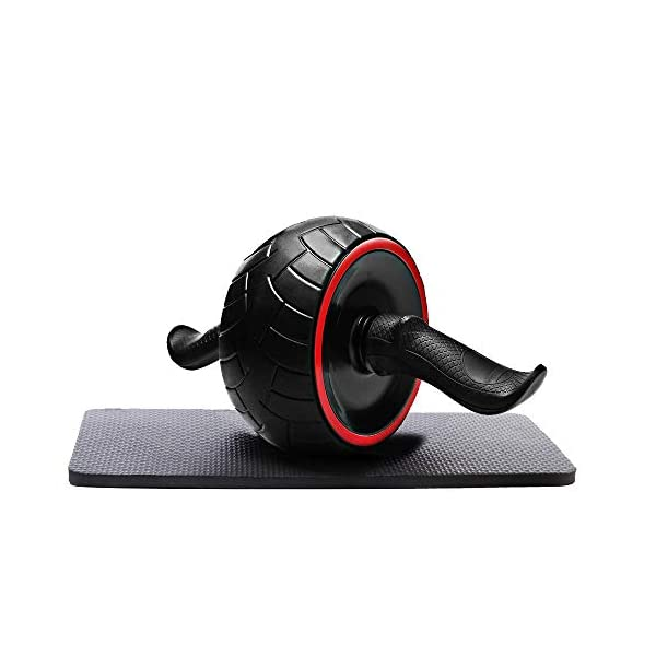 KESSER Ab Roller for Abs Workout with Knee Pad Noiseless Easy to Assemble Ab Wheel Roller Exercise Equipment for Home Gym