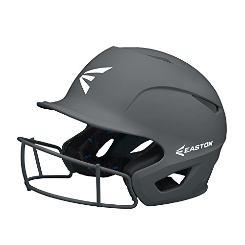 EASTON PROWESS Fastpitch Softball Batting Helmet with Mask | Small / Medium | Matte Charcoal | 2020 | Multi-Density Impact Absorption Foam | High Impact Resistant Lightweight Shell | BioDRI Liner
