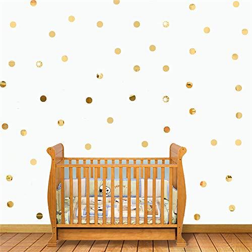 ZGGM gouden stippen kinderkamer baby kamer muur stickers kinderkamer kinderen thuis decoratie muurstickers muur stickers kinderkamer behang