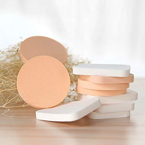 YB-DD 10pcs Poudre éponge Maquillage Éponges Ronde Powder Puff Fondation Blender Visage éponge Powder Puff pour Varie crème, Poudre et Fard à Joues Fond de Teint Liquide
