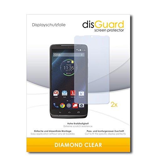 disGuard 2 x Bildschirmschutzfolie Motorola Droid Turbo Schutzfolie Folie DiamondClear unsichtbar