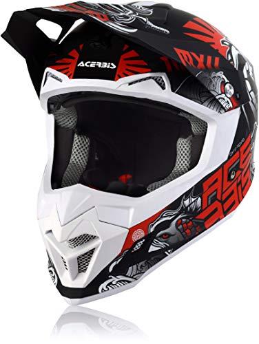 casco moto rosso e nero Acerbis Profile 4 Casco Motocross Nero/Grigio/Rosso S (55/56)