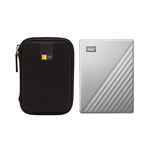 WD 2TB My Passport Ultra USB 3.0 Type-C External Hard Drive for Mac (Silver) + Case