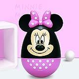 Neaer Hucha para niños y niñas con diseño de Mickey Mouse, hucha de plástico segura para dinero de dibujos animados (color: Minnie)