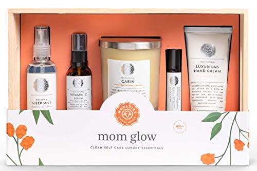 Woolzies Mom Glow Self Care Luxury Essentials Gift Box | New Mom/New...