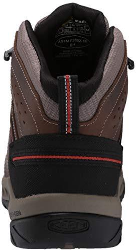 KEEN Utility Men's Flint II Mid Soft Toe Non Slip Work Shoe Construction, Cascade Brown/Burnt Ocher