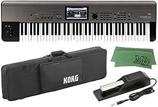 KORG コルグ - ミュージック ワークステーション シンセサイザー KROME EX 73鍵盤モデル KROME-73EX + 純正ソフトケース SC-KROME 73 + ダンパーペダル DS-1H + マークスオリジナルクロス セット