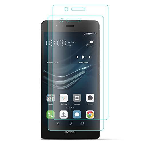 J&D Compatibile per 2 Confezioni Huawei P9 Lite Pellicola Protettiva, [Vetro Temperato] [Non Piena Copertura] HD Chiaro Balistico Vetro Protezione Schermo per Huawei P9 Lite