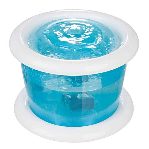 TRIXIE Fuente Autómatica Bubble Stream, 3 l, Azul-Blanco, Perro