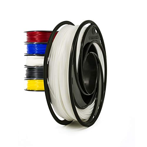 Gizmo Dorks Flexible TPU Filament for 3D Printers 3mm (2.85mm) 200g, White
