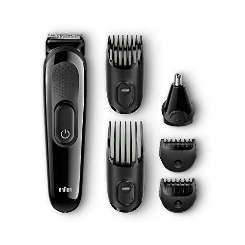 Braun MGK 3020 - Set de Afeitado Multifunción, Precisión para Estilismo de Barba y Cabello, 6 en 1, Negro