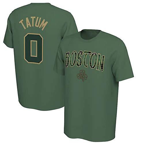 BMSD Camiseta NBA Celtics No. 0 Jersey Print Hombre Casual Baloncesto Manga Corta Club Unisex Street Adolescente Media Manga, L