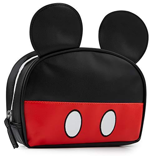 Disney Trousse Maquillage Femme Mickey Mouse avec Oreilles 3D, Pochette Sac À Main Mignonne, Idée Cadeau Disney