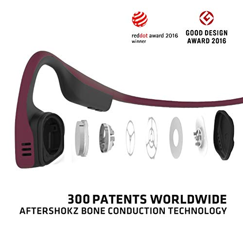 Product Image 2: AfterShokz Titanium Bone Conduction Wireless Bluetooth Headphones, Canyon Red
