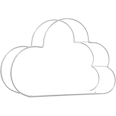 Mooyode Pared Estantería Almacenaje Hierro Forjado en Forma de Nube Estante Pared Organization para Dormitorio Decoración Hogar Bricolaje Pared ...