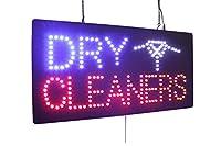 ドライクリーニングサイン、スーパーブライト高品質LEDオープンサイン、ストアサイン、ビジネスサイン、ウィンドウサイン