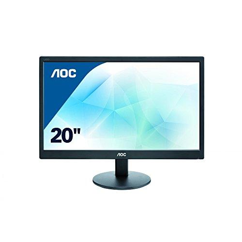 AOC E2070SWN 49,5 cm (19,5 Zoll) Monitor (VGA, TN Panel, 1600 x 900, 60 Hz) schwarz