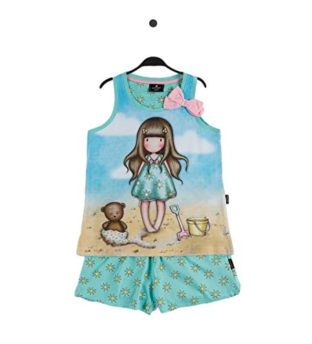 Santoro Gorjuss Pijama de 2 piezas, camiseta + pantalón corto de algodón para primavera/verano, original y auténtico, ideal para niña/niña, en bonita caja de regalo Moon 55577 12 años