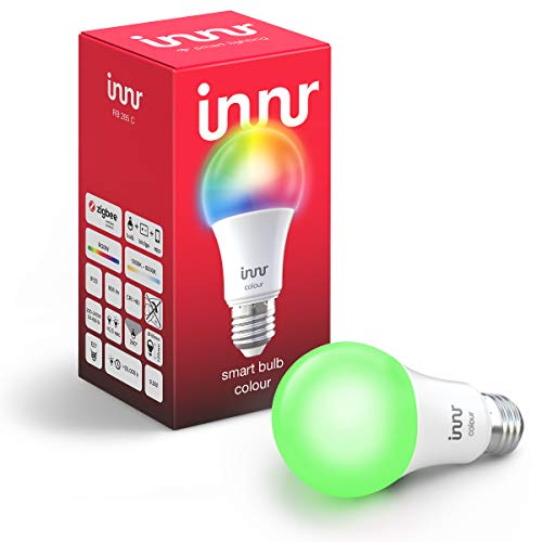 Innr E27 Smart LED Lampe Color, kompatibel mit Philips Hue*, Alexa & Hey Google (Bridge erforderlich) dimmbar, 16 Million Farben, alle Weißtöne, RGBW, RB 285 C