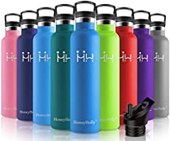 HoneyHolly Vacuum Insulated Stainless Steel Water Bottle, Bpa Free Reusable Sport Bottles 350/500/600/750/1000ml for...