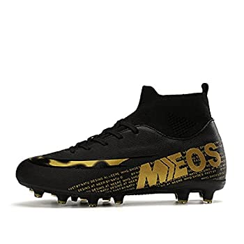 World performance team shooter Fg/Ag hard sock mouth World Cup football shoes sneakers  7.5 BLACK