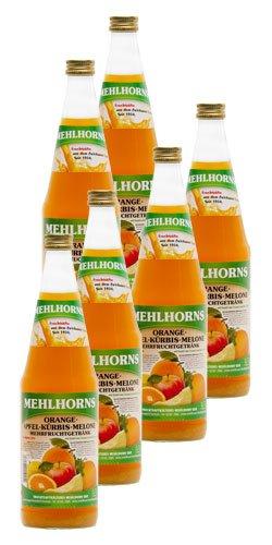 Mehlhorns Orange- Apfel- Kürbis- Melone- Mehrfruchtgetränk (6 x 0,7 l)