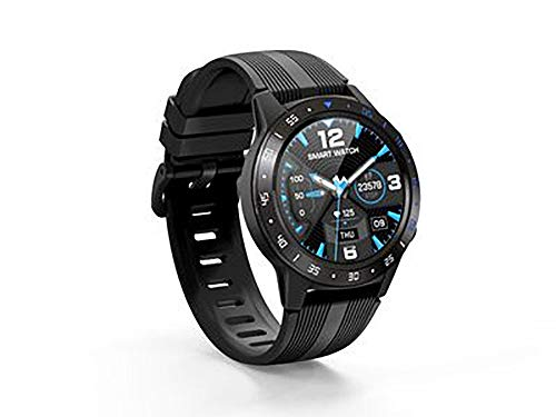 Reloj inteligente, de alta definición táctil, detección de salud, modo deportivo, control de música, compatible con Android e iOS (color: negro).