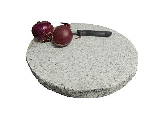 GRANITE SPIRIT - Grillen/backen - Pizzastein aus Granit - Druchmesser 30cm - Modell Solid Maid