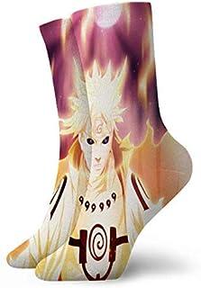 AEMAPE, Anime N-Ar-Uto Minato Namikaze Calcetines Deportivos Acolchados para Correr para Hombres y Mujeres
