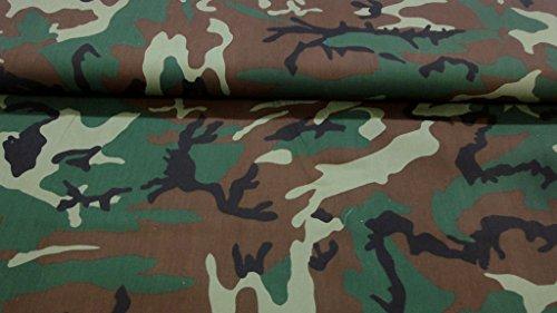 StoffBook GRÜN/BRAUN/SCHWARZ LAND NATODRUCK STOFF BAUMWOLLE STOFFE, C461