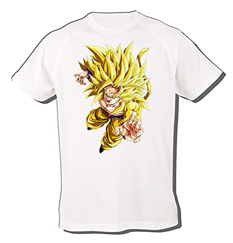 MERCHANDMANIA Camiseta A3 Goku SSJ 5 Dragon Ball AF Tshirt
