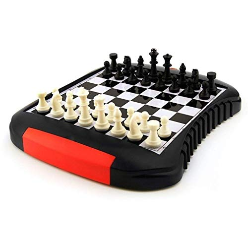 DFJU Tipo de cajón Ajedrez magnético Ajedrez Ajedrez portátil para Viajes al Aire Libre Juego de Mesa para niños y Adultos Juego de ajedrez para Principiantes (Ejercicio de Pensamiento Intelectual)