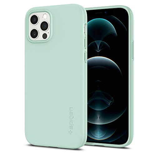 Spigen Thin Fit Hülle Kompatibel mit iPhone 12 Pro & Kompatibel mit iPhone 12 - -Mint