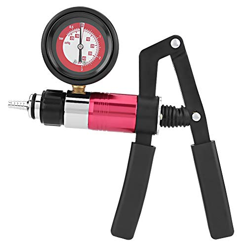 Victool Bremsenentlüftungsgerät, Vakuumpumpe Bremsenentlüfter Set für Auto Motorrad Tester Vakuumtester Druckprüfgerät Druckpruft mit Koffer