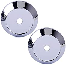 DDV- US - 4Pcs 65mm Black Silver Car Wheel Rims Cover Wheel Center Hub Caps Emblem Badge Car Styling