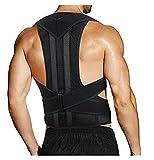 XMSM Full Back Posture Corrector, Breathable Back Support Shoulder for Men Women Lumbar Brace Corset Back Belt for Relief Teenager Hunchback,Poor Posture, Kyphosis, Etc (Size : 4XL)