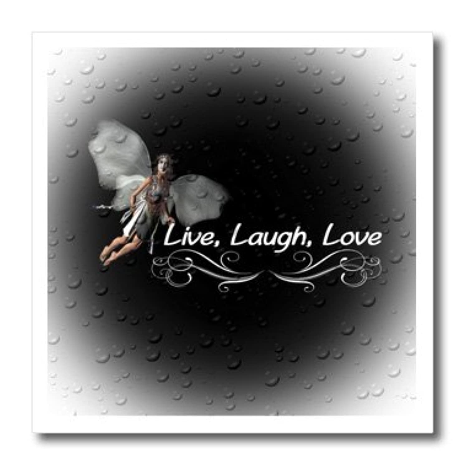 3dRose ht_54595_2 Live Laugh Love-Iron On Heat Transfer, 6 by 6