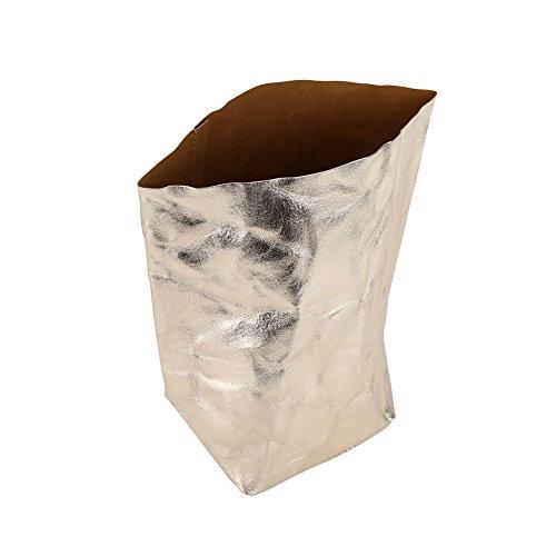 Zerodis kraftpapier pot zak zak voor vetplanten bloemen hergebruik multifunctionele wasbaar champagnekleur