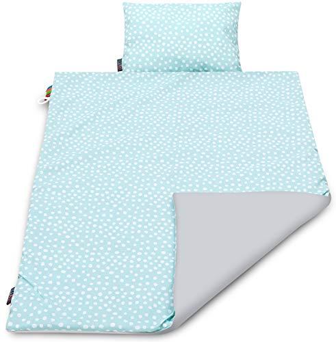 Baby Bettdecke und Kissen für Baby Decke Kissen Set Kuscheldecke Baby Kinder Decke Babydecke Baumwolle Babybett Allergiker Kissen Bettset Decke Kopfkissen Baby Mädchen Junge Erstlingsdecke