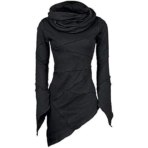 Las Mujeres Delgadas Cuello de Cuello Alto sólido Bufanda M