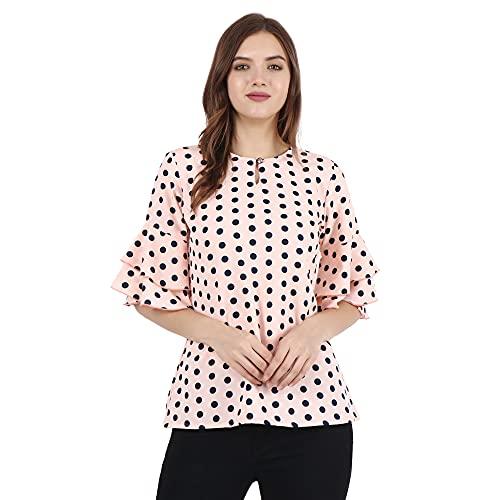 Aarju Fashion Women's Casual Polka Dot Top for Women/Girls